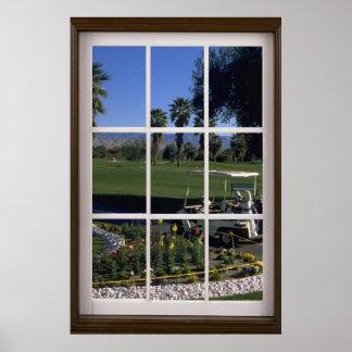 Partida del campo de golf póster