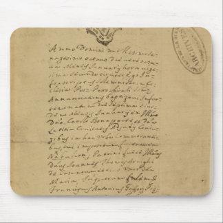 Partida del nacimiento de Napoleon 1769 Alfombrillas De Ratón