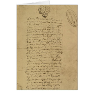 Partida del nacimiento de Napoleon, 1769 Tarjeta De Felicitación