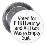 Partidario contrariedad de Hillary Pins