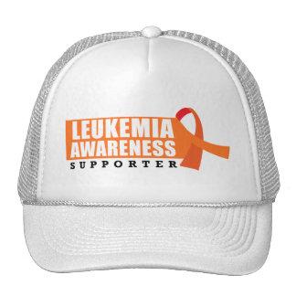 Partidario de la conciencia de la leucemia gorras de camionero