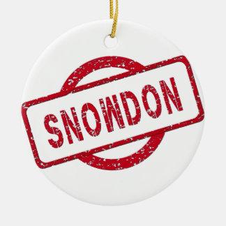 Partidario de Snowden Adorno De Navidad