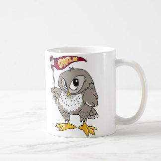 Partidario del búho tazas de café