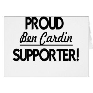 ¡Partidario orgulloso de Ben Cardin Tarjetas