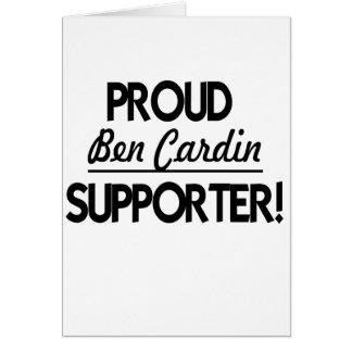 ¡Partidario orgulloso de Ben Cardin Felicitación