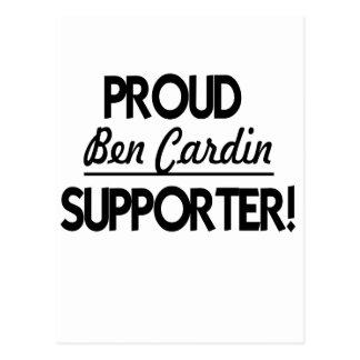¡Partidario orgulloso de Ben Cardin Postal
