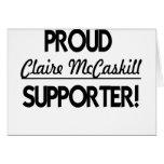 ¡Partidario orgulloso de Claire McCaskill! Tarjeta