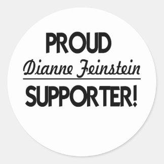 ¡Partidario orgulloso de Dianne Feinstein! Etiquetas Redondas