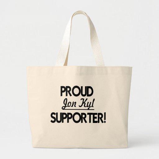 ¡Partidario orgulloso de Jon Kyl! Bolsa Tela Grande