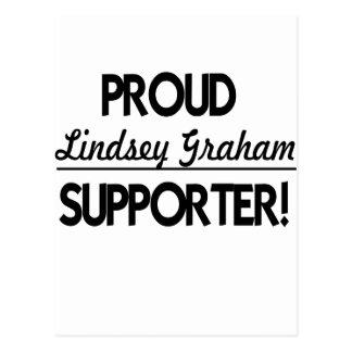 ¡Partidario orgulloso de Lindsey Graham! Tarjetas Postales
