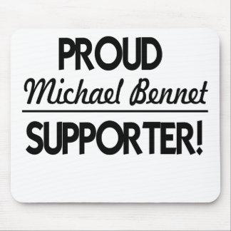 ¡Partidario orgulloso de Michael Bennet! Alfombrillas De Ratón