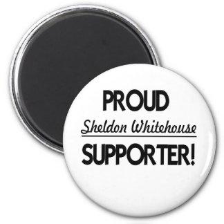¡Partidario orgulloso de Sheldon Whitehouse! Imán Redondo 5 Cm