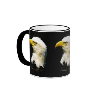 Partidario SAGRADO de la fauna de Eagle calvo del Taza De Dos Colores