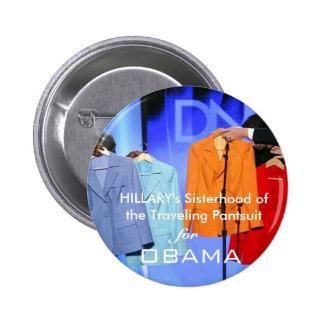 Partidarios de Hillary Clinton para Obama Pins