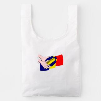 Partidarios rumanos del rugbi de Rumania de la Bolsa Reutilizable
