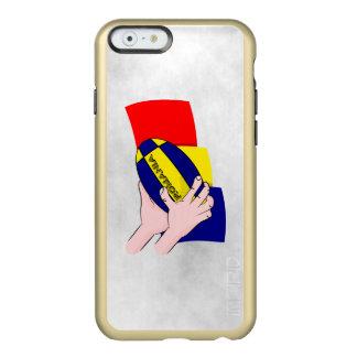 Partidarios rumanos del rugbi de Rumania de la Funda Para iPhone 6 Plus Incipio Feather Shine