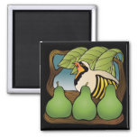 Partidge in a pear tree fridge magnets