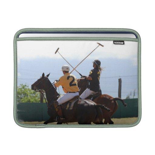 "Partido 13"" del caballo del polo manga de MacBook Funda Para Macbook Air"