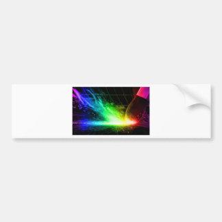 Partido abstracto del color del fuego etiqueta de parachoque