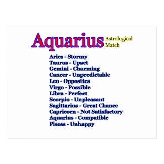 Partido astrológico del acuario el regalo de Zazzl Tarjeta Postal