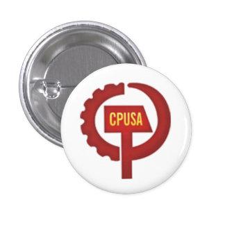 Partido Comunista los E.E.U.U. Pin Redondo 2,5 Cm