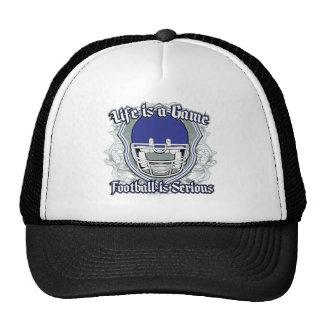 Partido de fútbol azul marino gorro