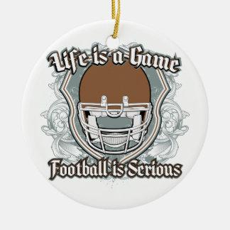 Partido de fútbol Brown Ornamentos De Navidad