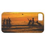 Partido de fútbol de la puesta del sol iPhone 5 protector