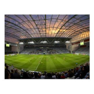 Partido de fútbol estadio de Forsyth Barr Dunedi Postal