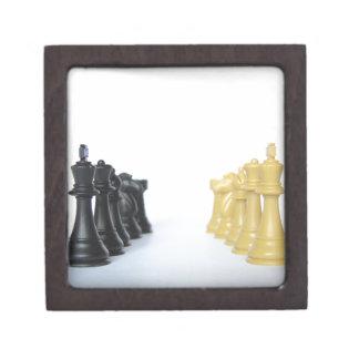 Partido del ajedrez caja de joyas de calidad