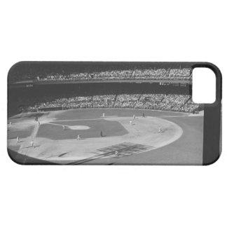 Partido del béisbol en estadio iPhone 5 cárcasas