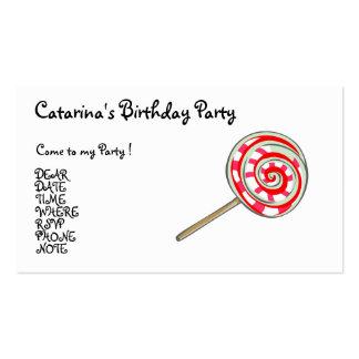 Partido del caramelo modificado para requisitos pa tarjeta de visita