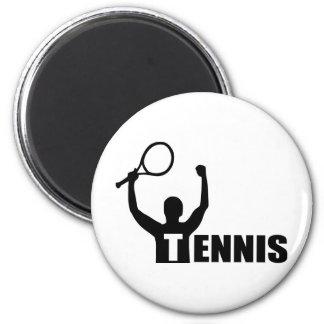 Partido del ganador del campeón del tenis imán de frigorifico
