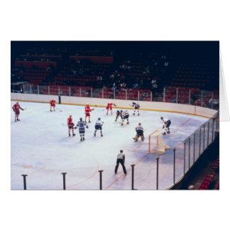Partido del hockey sobre hielo del vintage tarjeta