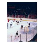 Partido del hockey sobre hielo del vintage tarjeta postal