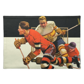 Partido del hockey sobre hielo mantel individual
