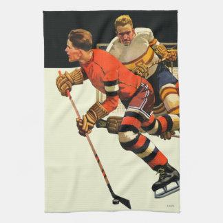 Partido del hockey sobre hielo toallas de cocina