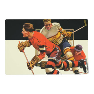 Partido del hockey sobre hielo salvamanteles
