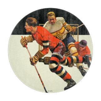Partido del hockey sobre hielo tablas para cortar