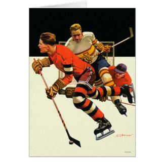 Partido del hockey sobre hielo felicitación