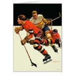 Partido del hockey sobre hielo tarjeta pequeña
