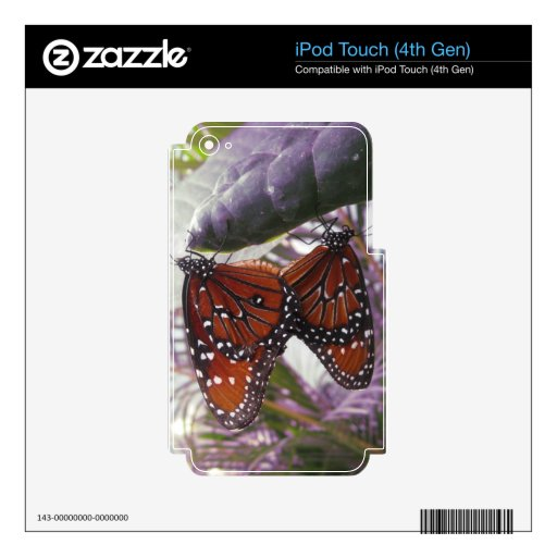 Partido del monarca iPod touch 4G calcomanías