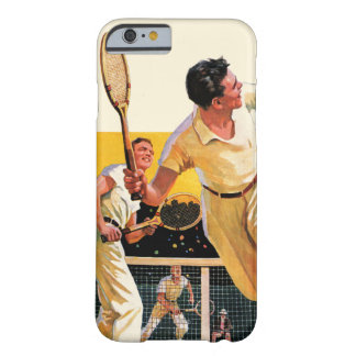 Partido del tenis de los dobles funda de iPhone 6 barely there