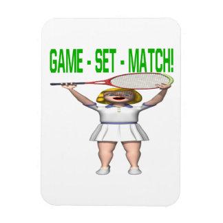 Partido determinado del juego imán rectangular