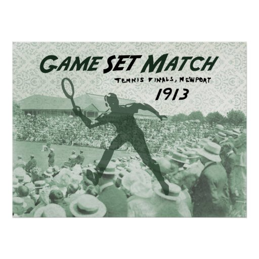 Partido determinado del juego: Poster del tenis de