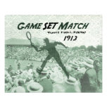 Partido determinado del juego: Poster del tenis de Impresiones Fotograficas