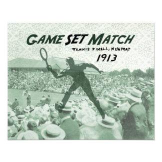 Partido determinado del juego Poster del tenis de Impresiones Fotograficas