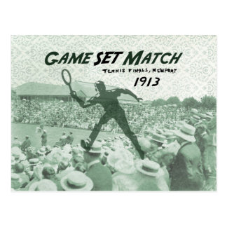 Partido determinado del juego: Poster del tenis Postales