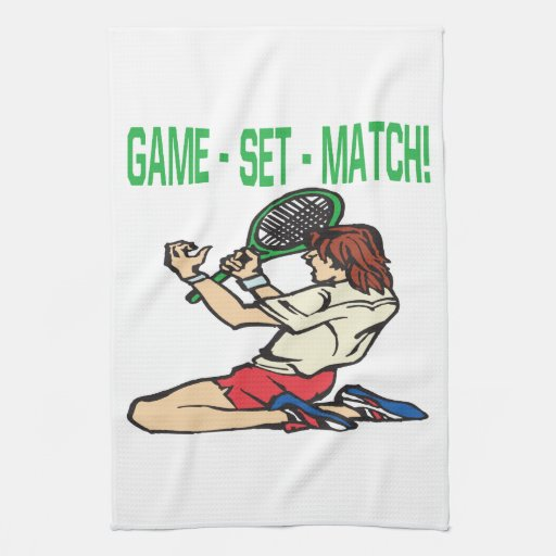 Partido determinado del juego toalla de mano