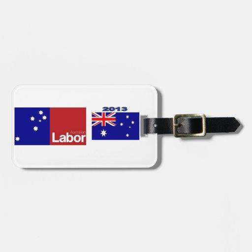 Partido laborista australiano 2013 etiquetas para equipaje